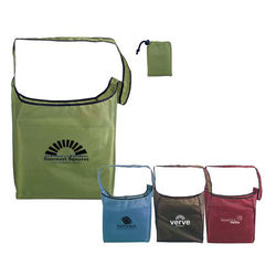 "13.5"" x 14.5"" Fold-Away Sling Bag Made from 60% Recycled Materials"