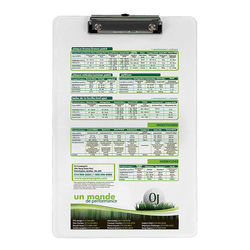 Legal Size Low Profile Clipboard with Full Color Printing