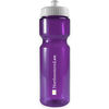 28 oz. Transparent BPA-Free Sports Bottle with Push-Pull Lid Made from Food-Safe 100% Post-Consumer Recycled PETE