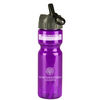 28 oz. Transparent Bottles with Flip Straw Lid (BPA-Free)
