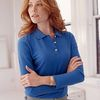 Devon & Jones Ladies' Long Sleeve Pique Polo