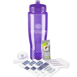 Deluxe Golf Event Kit in Sports Bottle Includes: Nike® Golf ball, Gatorade packet, Tees & Hand Cleaner