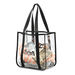 """12"""" x 12"""" Clear Event Tote - NFL Security Approved"""