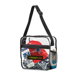 "12"" x 12"" Clear PVC Event Messenger Bag - NFL Security Approved"