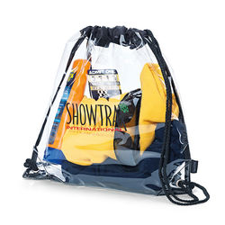 "12"" x 12"" Clear Drawstring Cinch Backpack - NFL Security Approved"