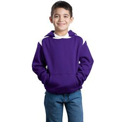 Youth Pullover Hooded Sweatshirt with Contrast Color