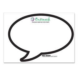 "Dry Erase Decal (Ultra Removable) - Speech Bubble Shape - 8"" x 11"""