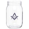 16 oz GLASS Mason Jar with Optional Tin Lid