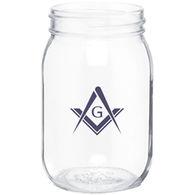 16 oz GLASS Mason Jar with Optional Tin Lid