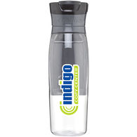 24 oz Contigo® Retail-Inspired Dishwasher-Safe Water Bottle with Push-Button Opening and Storage Compartment