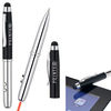 4-in-1 Ballpoint Stylus Pen, Laser Pointer, LED light (Separate Tips)