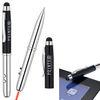4-in-1 Ballpoint Stylus Pen, Laser Pointer, LED light (Separate Tips)