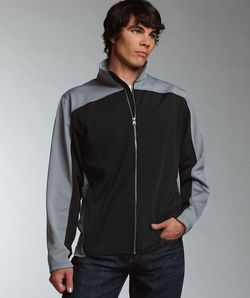 Men's Full-Zip Sleek and Sporty Bonded Jacket