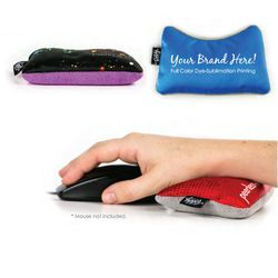 Mouse Wrist Rest - Deluxe Microfiber with Full Color Printing - Cleans Glasses, Screens and Gadgets