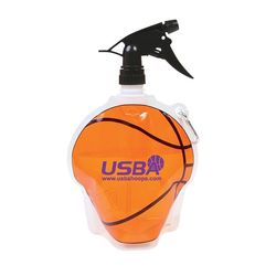 Basketball Theme Flat, Foldable Water Bag with Sprayer Top