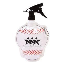 Baseball Theme Flat, Foldable Water Bag with Sprayer Top