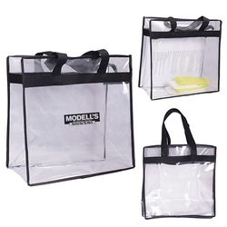 "12"" x 12"" Clear PVC Event Tote Bag - NFL Security Approved"