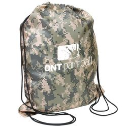 "14.5"" x 17.5"" Polyester Camo Drawstring Cinch Backpack"