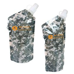 Camouflage Flat, Foldable Water Bag