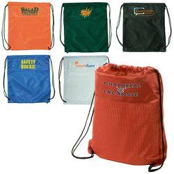 "13.75"" x 16.5"" Mesh Jersey Drawstring Cinch Backpack"