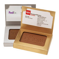 Chocolate-Covered Butter Cookie in a Business Card Box - Just Insert Your own Business Card