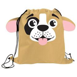 "13.5"" x 15"" Animal Theme Drawstring Cinch Backpack"
