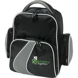 Golf Shoe Bag with Front and Side Zippered Pockets
