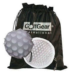 "15"" x 15"" Drawstring Tote Bag Folds Into Golf Ball Self-Pouch (Makes a Perfect Shoe Bag!)"