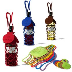 Collapsible Wine Bottle Sling Made From Rich Italian Synthetic Leather (in 30 colors!)