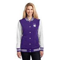 Ladies' Sweatshirt Letterman Jacket
