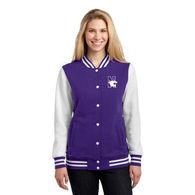 Ladies' Sweatshirt Letterman Jacket