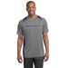 Men's Heather Colorblock 100% Polyester Moisture-Wicking T-Shirt (Good)