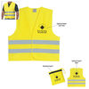 Economy Reflective Vest With Zippered Pouch