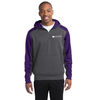 Adult Colorblock 1/4 Zip Tech Fleece Hooded Sweatshirt