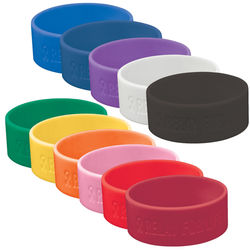 Extra-Wide Silicone Wristband Gives You Added Room for Your Personalized Message
