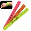 Neon Reflective Safety SLAP BRACELETS Snap on for Greater Visibility in the Dark