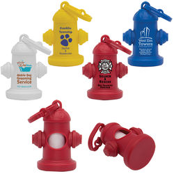 Pet Waste Bag Dispenser Shaped Like a Fire Hydrant