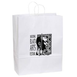 "White Paper Shopping Bag - 7.75"" x 9.75"""