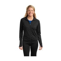 Ladies' Moisture-Wicking Fitness Full-Zip Pullover