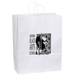 "White Paper Shopping Bag - 13"" x 15.75"""