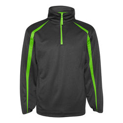 Colorblock Polyester Fleece 1/4-Zip Pullover