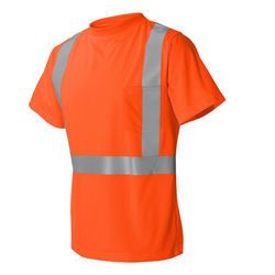 High Performance Microfiber T-Shirt with Reflective Safety Stripes