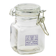 3 oz Glass Hinge Top Jar - Empty