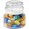 11 oz Round Glass Jar Filled with Hard Candy