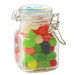 3 oz Glass Hinge Top Jar Filled with Jelly Beans