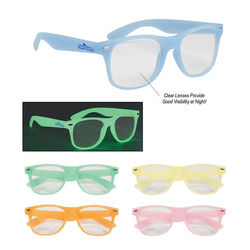Glasses with Glow-In-The-Dark Frames and Clear Lenses