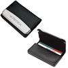 Leather Business Card Case with Magnetic Closure