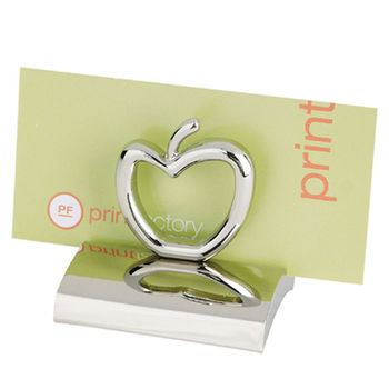 Chrome Business Card Holder - 12 Themed Shapes Available