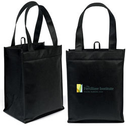 "10"" x 13"" Non-Woven Compartment Tote with 18"" Handles - Full Color Printing"