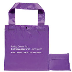 "12"" x 12"" Polyester Folding Tote with Snap Closure"